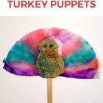 coffee filter turkey puppets