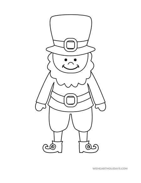 coloring pages : Leprechaun Coloring Page coloring pagess | 582x450