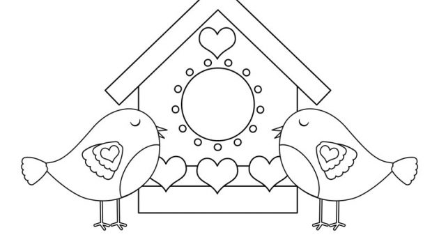 love birds valentines coloring page preview