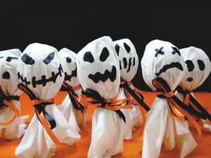 easy ghost lollipops