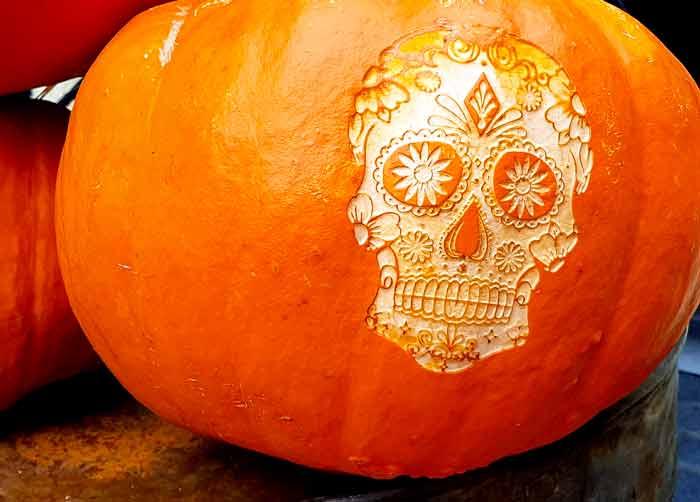 pumpkin carving skull