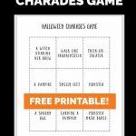 halloween charades game free printable