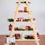 modern ladder shelf christmas tree