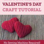 valentine's day sweater heart craft