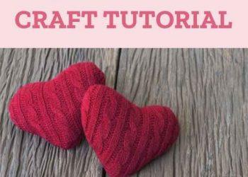DIY Valentine's Day Sweater Heart