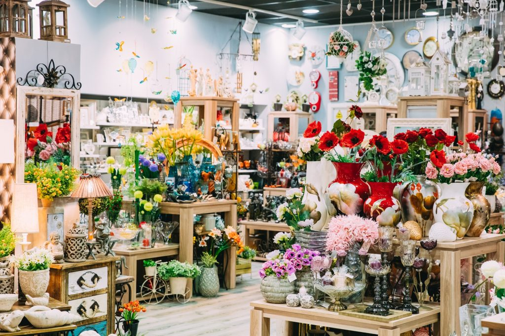 View Of Assortment Of Gift Shop In Store Of Shopping Center